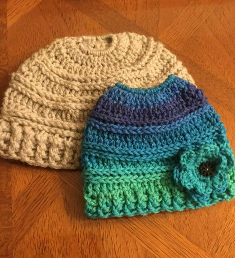 71c483d21b2 Sometimes mothers and daughters can use the same styles while coordinating  by not replicating the same colors in a hat. The Mommy and Me Messy Bun hats  by ...